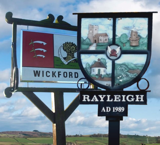 Wickford and Rayleigh Town Signs